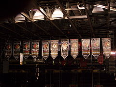 Hockey Photos - Ottawa Senators (Original) - Stanley Cup banners hanging at Scotiabank Place