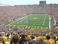 College Basketball Photos - Michigan Wolverines - A football game at Michigan Stadium