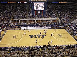 College Basketball Photos - Pittsburgh Panthers - The early minutes of a game against number one ranked UConn in 2008%E2%80%9309 Pittsburgh Panthers men%27s basketball team