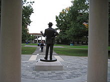 College Basketball Photos - Rochester (Ny) Yellow Jackets - Statue of George Eastman