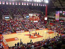College Basketball Photos - Rutgers Scarlet Knights - Interior of the Louis Brown Athletic Center