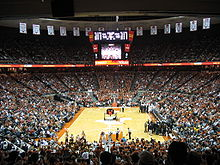 College Basketball Photos - Texas Longhorns - The Frank Erwin Center during a Texas basketball game