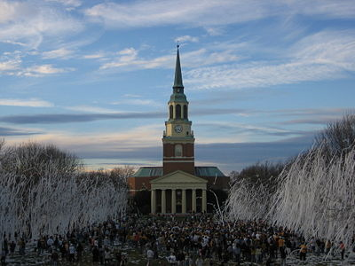 "College Basketball Photos - Wake Forest Demon Deacons - ""Rolling the Quad"" is a WFU tradition that is done after major victories in athletic competition."