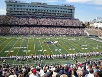 College Basketball Photos - Akron Zips - The Akron Zips as they play during their 2009 home opener in Summa Field at InfoCision Stadium