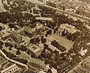 College Basketball Photos - City College Of New York Lavender - Annotated 1950s aerial view of the main part of the old South Campus of City College