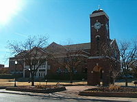 College Basketball Photos - Hardin-Simmons Cowboys - HSU Clock Tower in the middle of campus