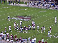 College Football Photos - New Mexico State Aggies - One of many football games played in Aggie Memorial Stadium