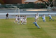 College Football Photos - North Carolina Tar Heels - 2005 men's soccer team playing SMU