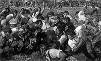 College Football Photos - Princeton Tigers - Drawing from the first football game played between Rutgers and Princeton.