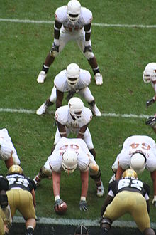 "College Football Photos - Texas Longhorns - The 2005 Texas Longhorns in the ""I formation"" against Colorado in the 2005 Big 12 Championship Game"