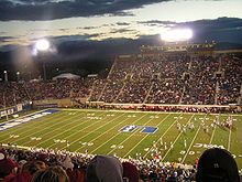 College Football Photos - Utah State Aggies - Football game being played at USU's Romney Stadium