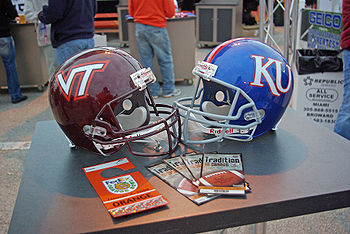College Football Photos - Kansas Jayhawks - Bowl Championship Series commissioners and the Orange Bowl Committee selected Kansas and Virginia Tech to play in the 2008 Orange Bowl.