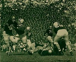 College Football Photos - Maryland Terrapins - Maryland in action against Navy in 1952.