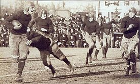 College Football Photos - Maryland Terrapins - A game between Maryland and intrastate rival Johns Hopkins in 1919.