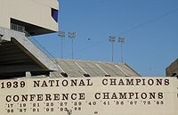College Football Photos - Texas A&M Aggies - Championship years displayed at Kyle Field
