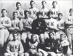 College Football Photos - Tulsa Golden Hurricane - The first football team represented Henry Kendall College (now Tulsa) in 1895