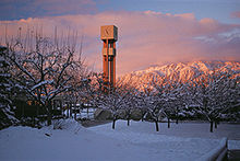 College Football Photos - Weber State Wildcats - <i>The Stewart Bell Tower is the most identifiable landmark of the Weber State campus. Built in 1972