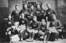 College Football Photos - Rutgers Scarlet Knights - The Rutgers College football team in 1882.