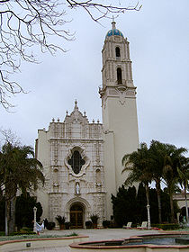 College Football Photos - San Diego Toreros - Immaculata Parish Church at USD showing the architectural style of the campus.