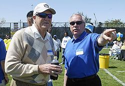 College Football Photos - San Jose State Spartans - SJSU Alumnus Bill Walsh and former Spartans Head Football Coach Dick Tomey