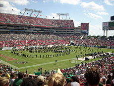 College Football Photos - South Florida Bulls - Halftime show in a 2007 USF Bulls game played at Raymond James Stadium