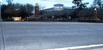 College Football Photos - Southeastern Louisiana Lions - Southeastern's main entrance is connected to I-55 via LA 3234 (University Avenue)