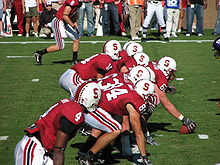 College Football Photos - Stanford Cardinal - 2007 offense lined up for a play