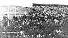 College Football Photos - Michigan State Spartans - 1913 Michigan Agricultural College (MSU) vs Michigan