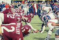 College Football Photos - Mississippi Rebels - Ole Miss and MSU meet during a 1970s Egg Bowl