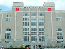 College Football Photos - Nebraska Cornhuskers - Outside of Memorial Stadium on the University of Nebraska Campus in Lincoln