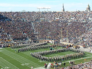 College Football Photos - Notre Dame Fighting Irish - Notre Dame Stadium on game day