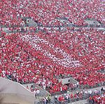 College Football Photos - Ohio State Buckeyes - BLock O in a game in the south stands