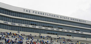 College Football Photos - Penn State Nittany Lions - The suite boxes on the east side of Beaver Stadium