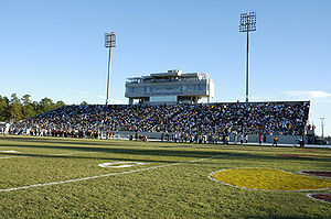 College Football Photos - Bethune-Cookman Wildcats - View of Municipal Stadium during a Wildcat football game
