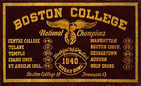 College Football Photos - Boston College Eagles - 1940 banner