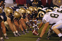 College Football Photos - Colorado State Rams - CSU lines up against Navy in 2005