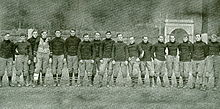 College Football Photos - Cornell Big Red - The 1904 team coached by Warner (not pictured).