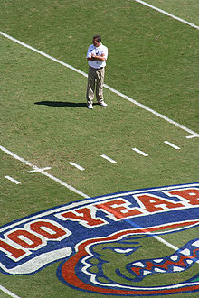 College Football Photos - Florida Gators - Head coach Urban Meyer (pictured) and the Gators celebrated 100 years of Florida Football with a BCS Championship in 2006.