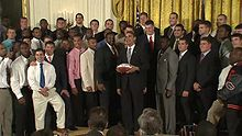 College Football Photos - Florida Gators - Florida Gators meet with Barack Obama after the championship.