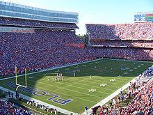 College Football Photos - Florida Gators - The Gators in their home