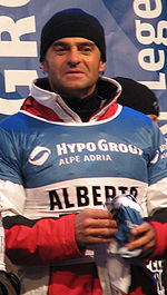 Olympics Photos - Alberto Tomba - Tomba at Snow Queen Trophy Zagreb 2009