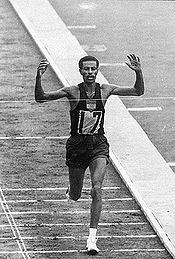 Olympics Photos - Abebe Bikila - Center