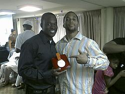 Olympics Photos - Aaron Armstrong - Aaron Armstrong (left) holding the silver medal