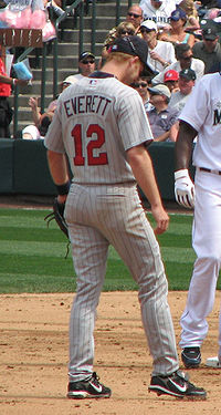 Olympics Photos - Adam Everett - Everett playing for the Minnesota Twins in 2008.