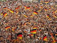 Soccer Photos - Germany National Football Team - The 2006 World Cup saw an unprecedented widespread public display of the national flag in the Federal Republic of Germany.