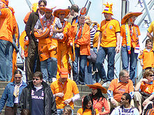 Soccer Photos - Netherlands National Football Team - Dutch supporters