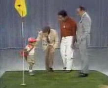 Golf Photos - Tiger Woods - Woods (age 2) on <i>The Mike Douglas Show</i>. From left