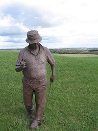 Golf Photos - Jim Colbert - Statue of Colbert at Colbert Hills.
