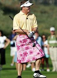 Golf Photos - Fred Funk - Fred Funk dons a skirt