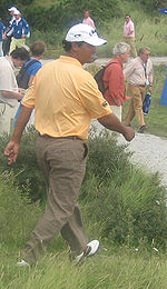 Golf Photos - Michael Campbell - Michael Campbell walks to the 12th tee at the 2007 KLM Open.
